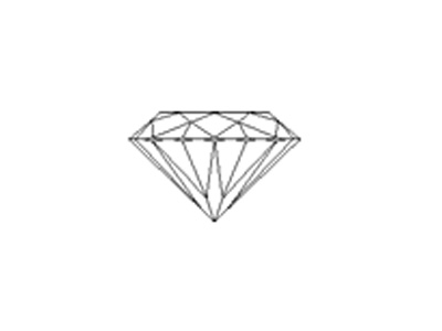 sketch of round brilliant-faceted cut