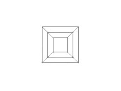 sketch of square-faceted cut