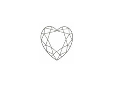 sketch of heart-faceted cut