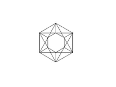 sketch of hexagon-faceted cut