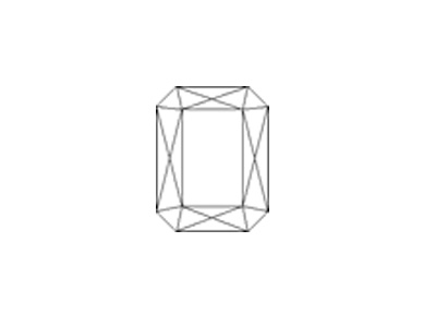 sketch of octagon-faceted cut