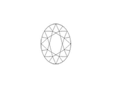 sketch of oval-faceted cut