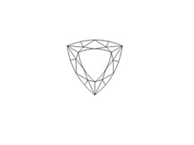 sketch of trilliant-faceted cut