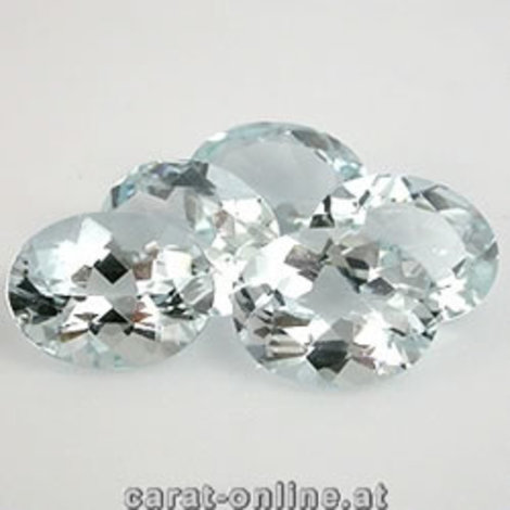 Aquamarin Lot Oval 4,0 ct