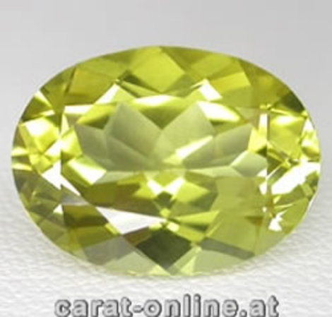 Lemonquarz Oval ca. 15 ct
