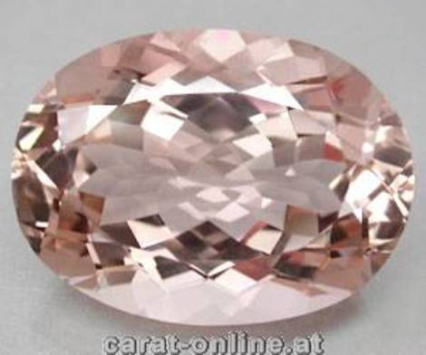 Morganite oval 57.66 ct