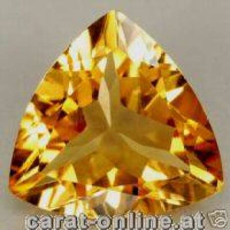 Citrine Trillion orange 14.32 ct