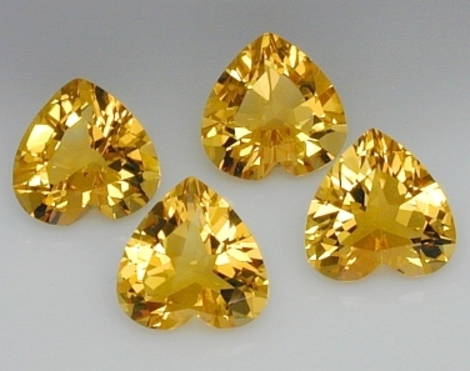 Citrine Lot heart 4