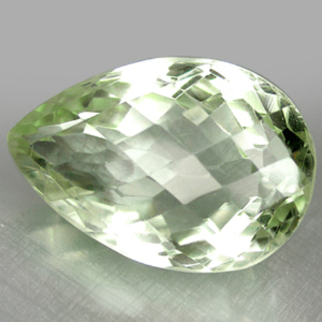 Prasiolith pear-checkerboard 15.86 ct