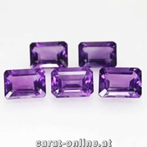 Amethyst Lot Octagon ca. 3,4 ct