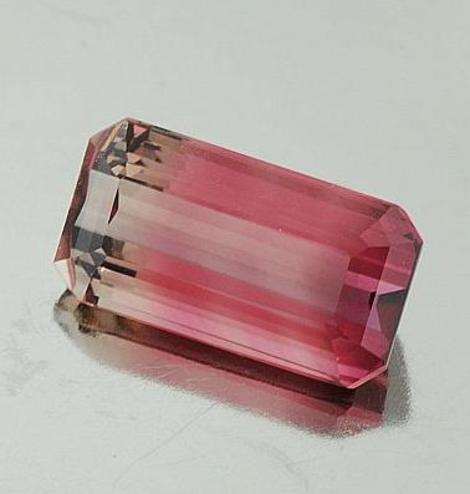 Bicolor Turmalin Octagon 11,03 ct