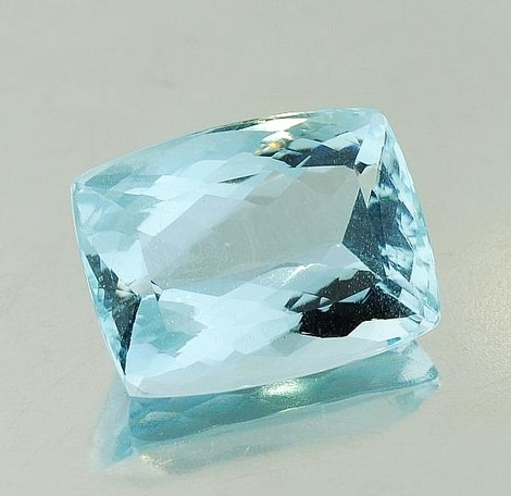 Aquamarine cushion 14.36 ct