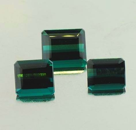 Tourmaline Lot Octagon bluish green 8.39 ct