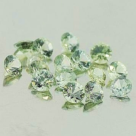 Sapphire Lot round light green 3.30 ct