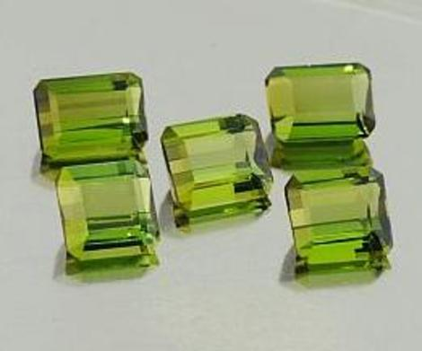 Green Tourmaline Lot Octagon 7.70 ct