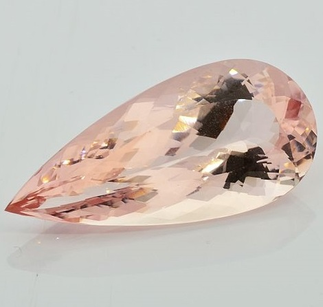 Morganite pear 44.34 ct