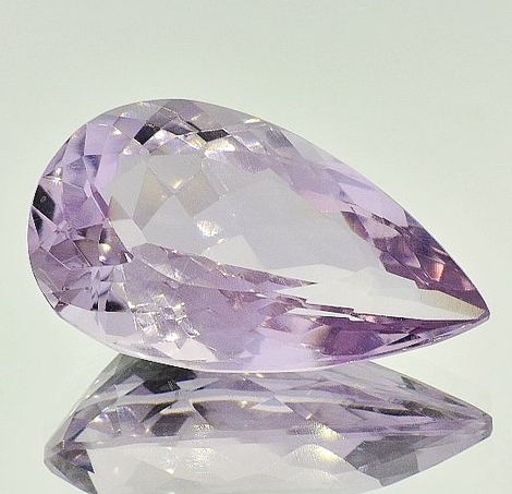 Amethyst pear 77.21 ct