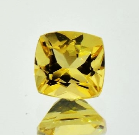 Goldberyll antikquadrat 2,19 ct