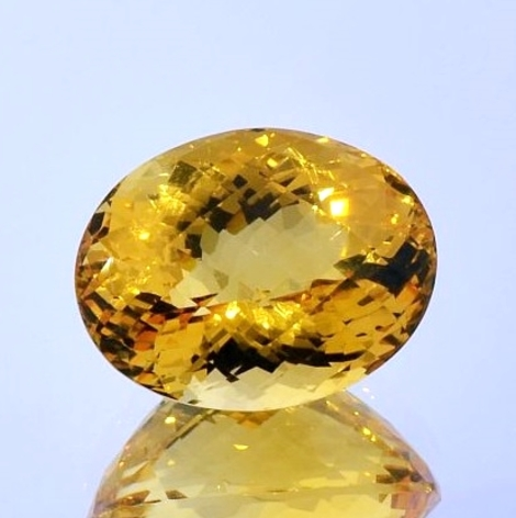 Citrine oval-checkerboard 15.63 ct