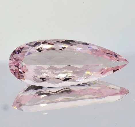 Morganite pear 12.82 ct