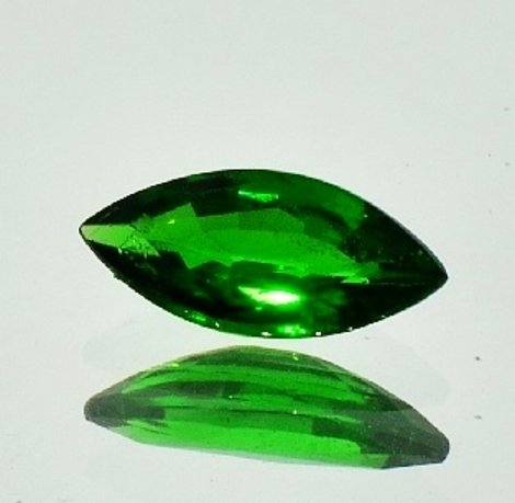Tsavorit Navette 2,16 ct
