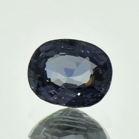 Spinell oval graublau 2,44 ct