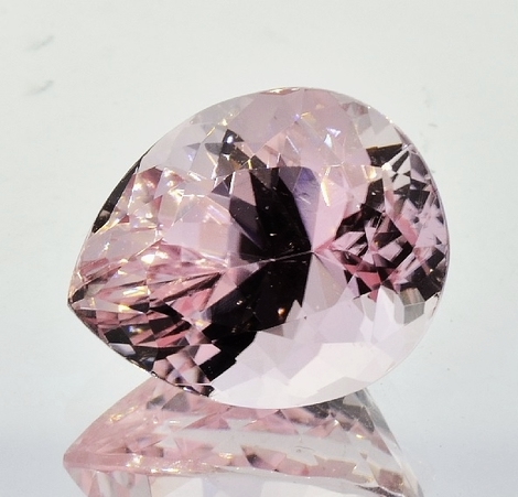Tourmaline pear pink 14.54 ct