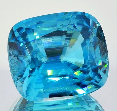 Zircon cushion blue 41.26 ct