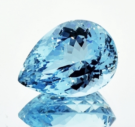 Aquamarine pear 20.16 ct
