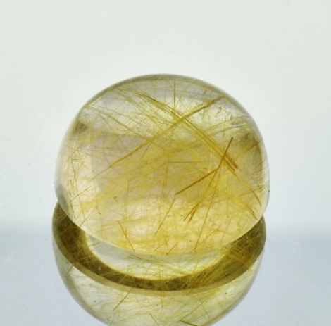 Rutilated Quartz Cabo round 17.67 ct