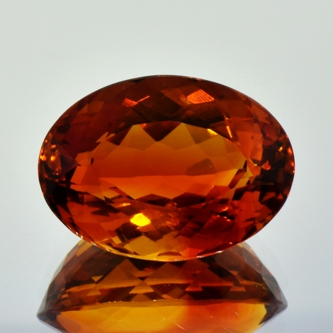 Citrine oval 33.82 ct