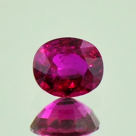Ruby oval unheated 1.14 ct