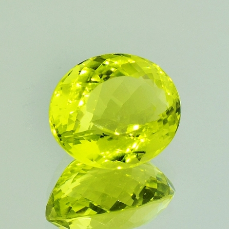 Lemonquarz oval 16,14 ct