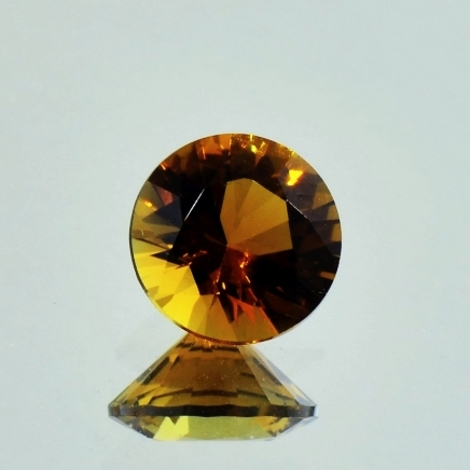 Tourmaline round orangy brown 1.62 ct