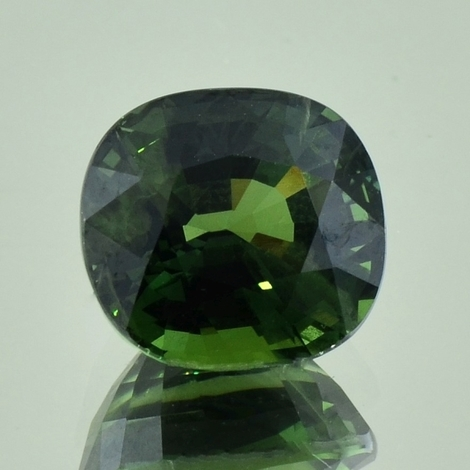 Sapphire cushion dark green 8.49 ct