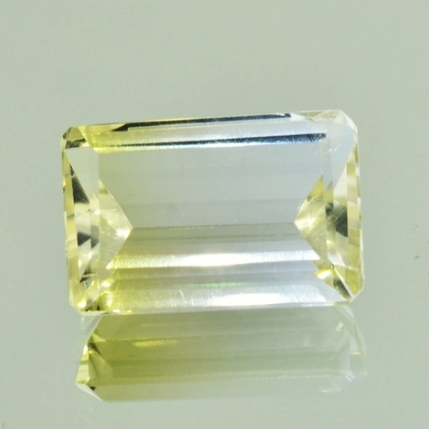 Bicolor-Quarz octagon 18,22 ct