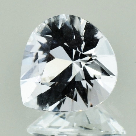 Topaz pear colorless 8.14 ct