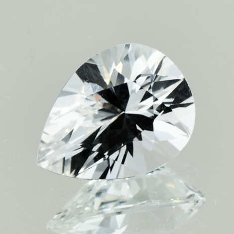 Topaz pear colorless 5.25 ct
