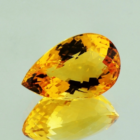 Citrine pear-checkerboard 15.17 ct