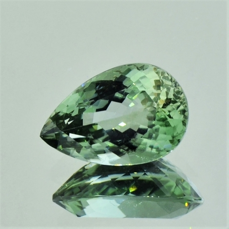 Tourmaline pear greenish 4.38 ct