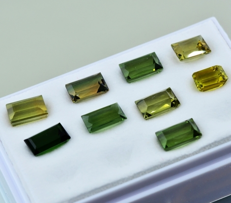 Tourmaline Lot Baguette 13.88 ct