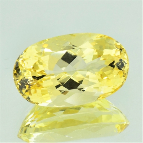 Feldspar Andesine oval yellow 31.50 ct