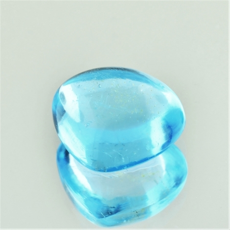 Blue Topaz Cabochon pear 17.56 ct