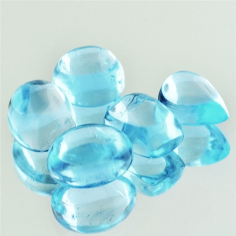 Blue Topaz Lot Cabochon 37.06 ct
