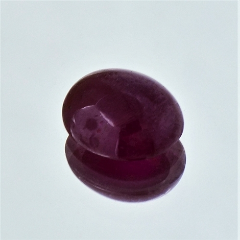 Ruby Cabochon oval unheated 6.88 ct