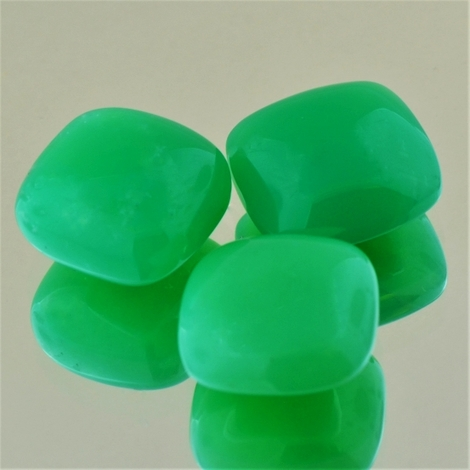 Chrysoprase trio square cushion 34.93 ct