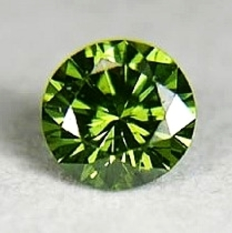 Demantoid round brilliant 2.27 ct