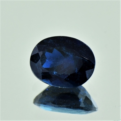 Indicolite Tourmaline oval dark blue 2.77 ct