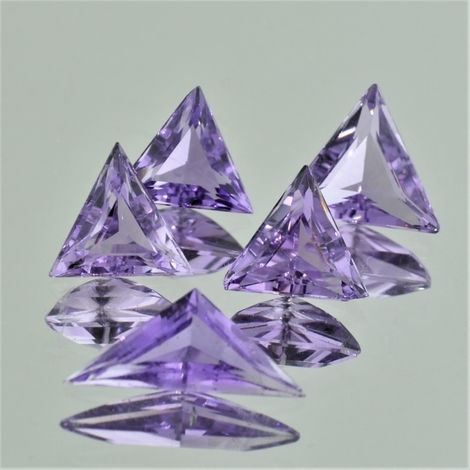 Amethyst Lot Trillion 7,87 ct
