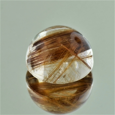 Rutilated Quartz Cabochon round 14.74 ct